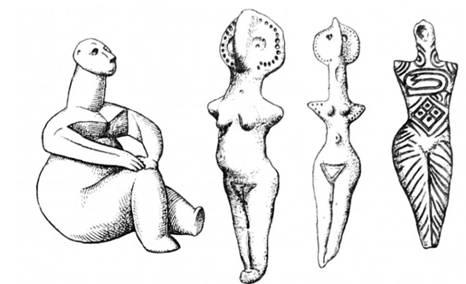 Глиняні образи трипільської Богині Родючості